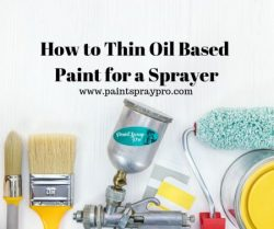 thin oil based paint