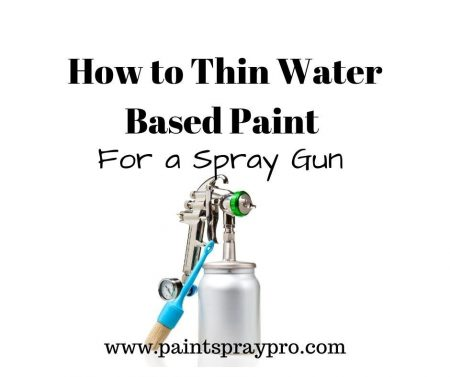 how to thin water based paint