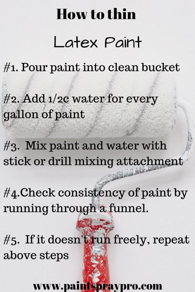 thinning latex paint