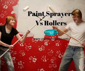 spraying vs rolling paint