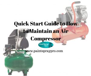 how to maintain an air compressor