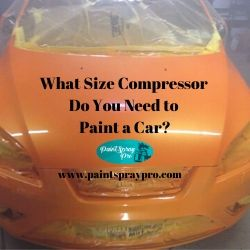 what size compressor do i need to paint a car
